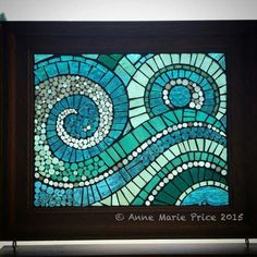 Fine Mosaic Art by Anne Marie Price AMP art - Murales Pared Exterior Easy Mosaic, Mosaic Tray, Mosaic Tile Art, Mosaic Glass, Glass Art, Mosaics, Cd Mosaic, Kitchen Mosaic, Blue Mosaic