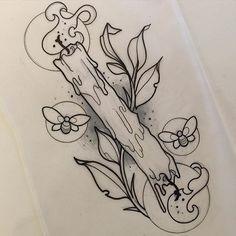 Tattoos And Body Art tatoo flash Leg Tattoos, Body Art Tattoos, Tatoos, Flash Tattoos, Sailor Tattoos, Flower Tattoos, Tattoo Sketches, Tattoo Drawings, Music Drawings