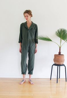 60s COVERALLS Dutch Work / Mechanic Coverall by shopfuture on Etsy