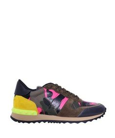 Valentino - Yellow Camouflage Fluorescent Rock Runner Sneakers