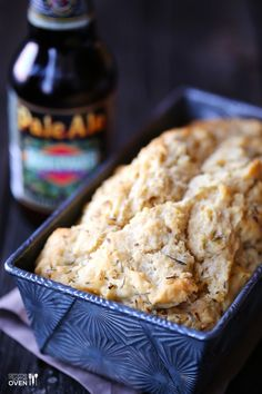 Whole Wheat Garlic & Herb Beer Bread     by gimmesomeoven  #Bread #WholeWheat #Garlic