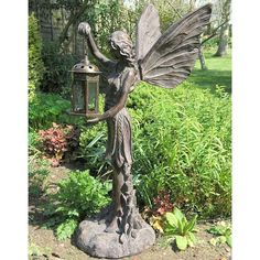 cheap garden statues. Fantastic Fairy With A Lantern Cheap Garden Statues .