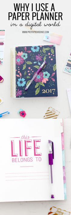 Why I use a paper planner in a digital age! I cannot live without my paper planner! Click through to find out why! michaelsmakers - Crafts Diy Home Michael Store, Printable Planner, Printables, Day Planners, Planner Organization, Happy Colors, Blog Tips, Happy Planner, Helpful Hints