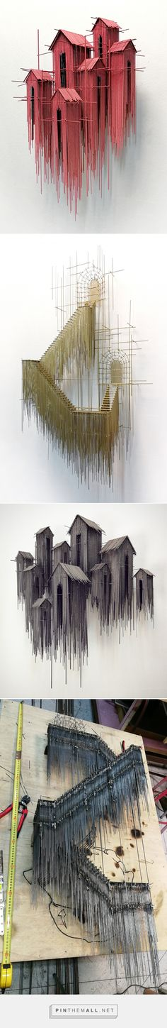 New Architectural Sculptures by David Moreno Appear As Three Dimensional Drawings | Colossal - created via https://pinthemall.net