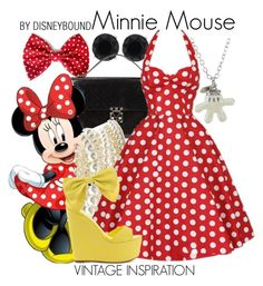 Minnie Mouse by leslieakay on Polyvore featuring Privileged, Louis Vuitton, Disney, Anne Klein, Forever 21, disney, disneybound and disneycharacter