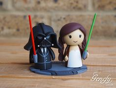 Darth vader groom and bride with pigtails by Genefy Playground https://www.facebook.com/genefyplayground