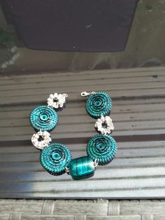 Bracelet turquoise dolce gusto et nesspresso. By @catherine