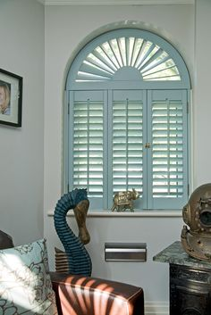 White Wooden Blind With Cafe Curtain White Wooden Blinds . How To Pair Plantation Shutters With Curtains Wasatch . Home and Family Indoor Shutters, Green Shutters, Interior Window Shutters, Wood Shutters, Blinds For Windows, Windows And Doors, Window Blinds, Arched Windows, Interior Design Degree