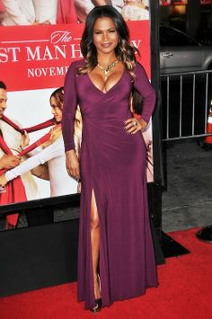 - Nia Long @ The Best Man Holiday premiere in LA - 8 of 9 Holiday World, Nia Long, Popular People, Celebs, Celebrities, A Good Man, Celebrity Style, Wrap Dress, Booty