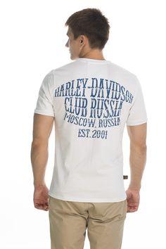 T-shirt Original;white/blue print.