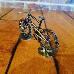 Check out this item in my Etsy shop https://www.etsy.com/listing/573513933/scrap-art-mountain-bike-sculpture