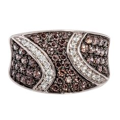 Show details for Gorgeous Energetically Styled Dress Ring with Pavé Set Rich Mahogany and White Cubic Zirconia Stones Mahogany Colour, Dress Rings, White Stone, Light Colors, Sterling Silver Rings, Arrow, Stones, Sparkle, Gems
