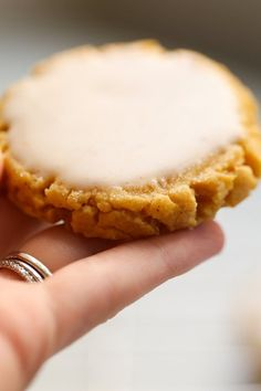 Soft Pumpkin Sugar Cookies - a fall spin on a classic sugar cookie with pumpkin spice and puree. This recipe creates soft, chewy, lightly spicy glazed pumpkin sugar cookies - perfect for fall Pumpkin Sugar Cookies, Pumpkin Cookie Recipe, Best Sugar Cookies, Pumpkin Dessert, Pumpkin Recipes, Fall Recipes, Holiday Recipes, Fall Cookies, Thanksgiving Cookies