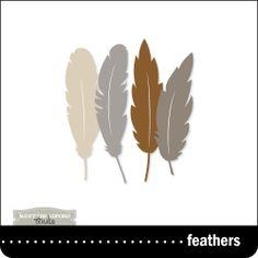 Feathers cut file from Kerri Bradford Studio....LOVE