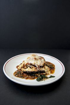 Eggplant Gratin. Great pasta substitute when you're craving lasagna, but cutting back on carbs.
