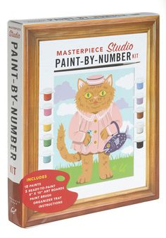 If you're more inspired than the 'average' artist but lack the studio experience, brush up on your skills with this paint-by-number kit!