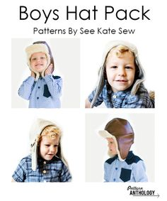 Aviator and Trapper hat PDF sewing patterns by See Kate Sew for Pattern Anthology