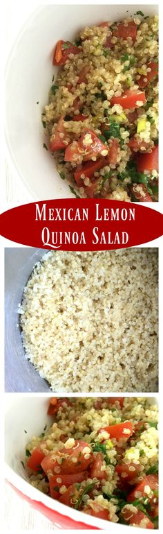 Mexican Lemon Quinoa Salad - A healthy and delicious dish for summer. It's light and full of yummy, spicy Mexican flavors. - by Mama Maggie's Kitchen #SaboreaTuVerano #AD