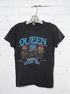 Vintage 1980 Queen Tee- Check out our Vintage T Collection #freepeople #vintageloves #vintage - olive button down shirt mens, mens black button down shirt, casual button down shirts mens *ad