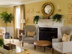 Golden East Hampton living room by Phoebe Howard.