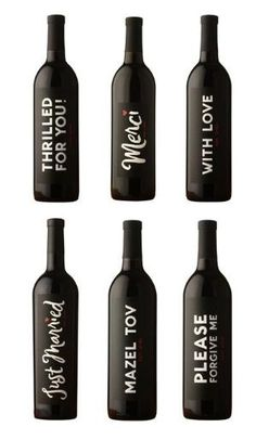 personalized wine bottles by Natalie Larin
