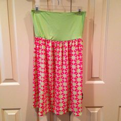 Monogrammed Swimsuit Coverup Lime Top with by TheSouthernPeach, $32.00