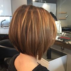 Short-Straight-Hair-Cuts-for-Thick-Hair-Stylish-Balayage-Bob-Hairstyles - Neue Frisuren Stylish Short Hair, Trendy Hair, Brown Hair With Highlights, Short Bob Hairstyles, Bob Haircuts, Casual Hairstyles, Straight Haircuts, Hairstyles Haircuts, Short Hairstyles With Highlights
