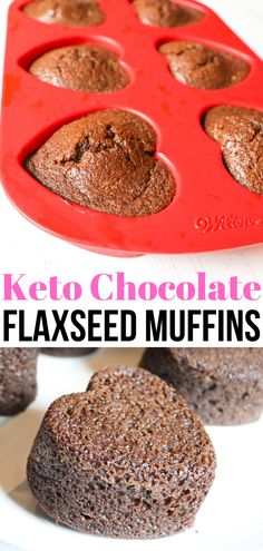 You are going to love these Keto Chocolate Flaxseed Muffins that you can easily whip up in your blender. This is a great breakfast option with all sorts of healthy components from the flaxseed meal. Keto Foods, Ketogenic Recipes, Keto Snacks, Ketogenic Diet, Healthy Breakfast Muffins, Healthy Breakfast Options, Breakfast Hash, Breakfast Recipes, Breakfast Gravy