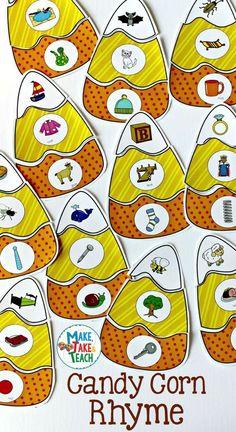 Prek Literacy, Fall Preschool Activities, Halloween Activities, Preschool Crafts, Teaching Phonics, Halloween Kids, Kindergarten Language Arts, Kindergarten Reading, Kindergarten Centers