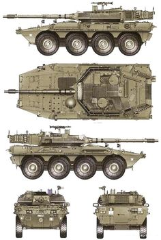 """105 mm  Fiat  IVECO-OTO Melara B1 """"Centauro"""" - Italian tank destroyer Army Vehicles, Armored Vehicles, Military Weapons, Military Art, Tactical Truck, Concept Motorcycles, Tank Armor, Tank Destroyer, Armored Fighting Vehicle"""
