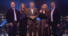 Princess Madeleine of Sweden, her husband Christopher O'Neill, Adele and Jamie Oliver appeared on a Norwegian-Swedish talk show, wishing everyone happy Christmas in Swedish.
