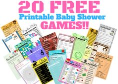 16 free baby shower printable games that I created on 11/20/2016  I hope you and your guests like them. You can get all this games here: http://printmybabyshower.com/free-printable-baby-shower-games/  #printablegames #babyshowerideas #freegames