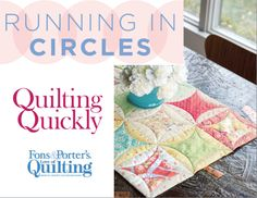 How to Make the Running in Circles Table Runner