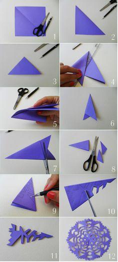 New Decor Christmas Diy Paper Snowflakes Ideas Diy Origami, Origami Paper, Diy Paper, Paper Art, Paper Crafts, Origami Envelope, Art Diy, Art N Craft, Holiday Crafts