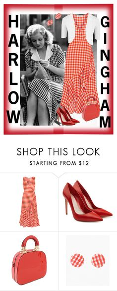 """Harlow - Gingham"" by theitalianparisian ❤ liked on Polyvore featuring Diane Von Furstenberg, Alexander McQueen and WearAll"