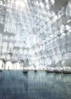 "Sou Fujimoto Proposes ""Mirage-Like"" Landmark for Middle East"