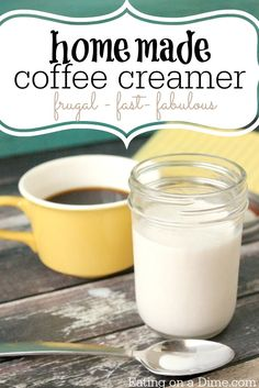 Try this delicious Homemade Coffee Creamer Recipe this week. With only three ingredients anyone can make this homemade liquid coffee creamer. The best part - you will save 50% by making your own!