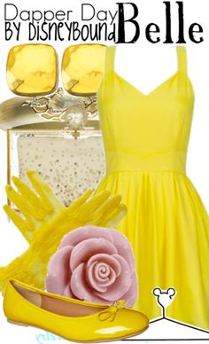 Beauty and the Beast belle outfit idea yellow dress