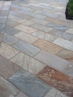 slate patio design