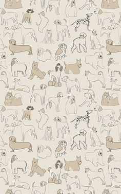 If you love dogs of all shapes and sizes, this Neutral Bulldog and Sausage Dog Pattern Pet Wallpaper Mural is the perfect choice. Tier Wallpaper, Whats Wallpaper, Neutral Wallpaper, Print Wallpaper, Animal Wallpaper, Pattern Wallpaper, Wallpaper Backgrounds, Iphone Wallpaper, Perfect Wallpaper