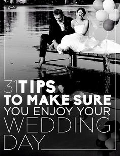 31 Tips To Make Sure You Enjoy Your Wedding Day How could I not if I (hopefully) one day get to marry my best friend?!