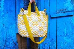 JOYN - gold chevron everything bag - 20% off with code November at checkout!