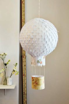 Give your imagination wings and change a Chinese paper lantern into a beautiful hot-air balloon.