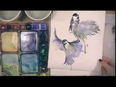 Watercolor Demonstration: 15 minute Chickadee in Winter