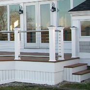 Stainless Railing with Cable Railing Infill atlantisrail.com