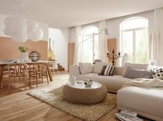 Feng Shui: zen and serene interiors - Trendy Home Decorations Feng Shui, Beige Room, Rustic Luxe, Inside Design, Trendy Home, Interior Exterior, Sofa Furniture, Interior Styling, Home Furnishings