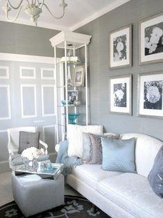 metallic silver gray walls | Girl white blue winter decoration 530x707 at Comfortablehomedesign.com