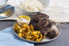 Mediterranean+Beef+Skewers+with+Roasted+Shokichi+Squash+&+Garlic+Rice.+Visit+https://www.blueapron.com/+to+receive+the+ingredients.