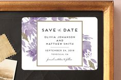 """Watercolor Delight"" - Floral & Botanical Save The Date Magnets in Aqua by Petra Kern."