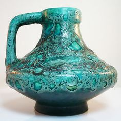 RARE Fat Lava Ufo Vase • Jopeko • Heinz Martin 47s • West German Pottery •